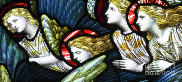 Wall Art - Glass Art - Group Of Angels by Henry Holiday