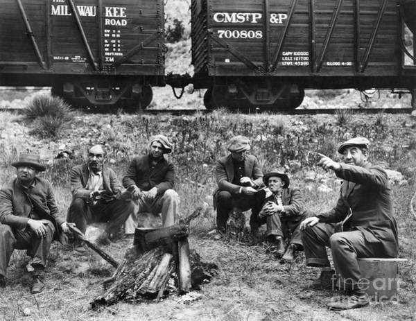 Wall Art - Photograph - Group Of Hoboes, 1920s by Granger