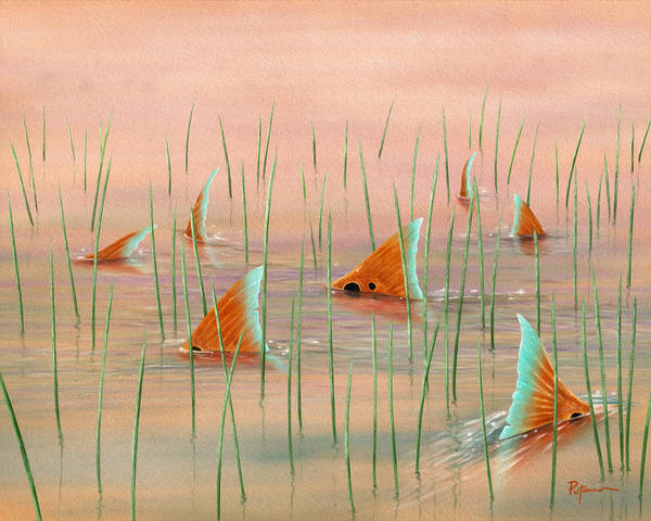 Redfish Wall Art - Digital Art - Group Picture by Kevin Putman