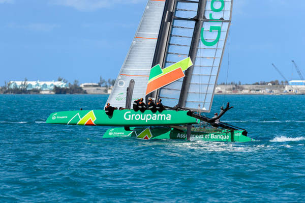 Ac45 Photograph - Groupama At The Mark by Chris Beard