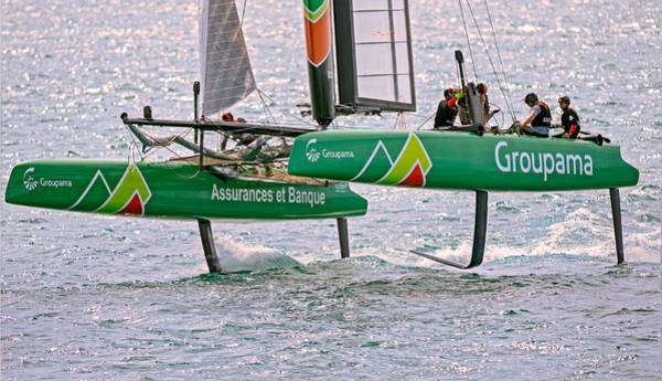 Ac45 Photograph - Groupama Flying High by Chris Beard