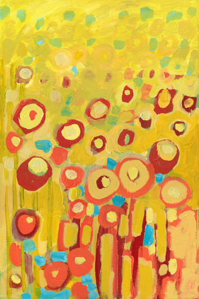 Wall Art - Painting - Growing In Yellow No 2 by Jennifer Lommers