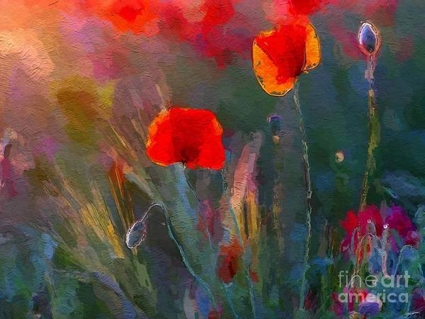 Wild Poppies Digital Art - Growing Wild by Anthony Fishburne