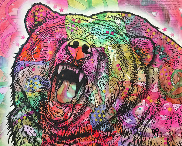 Painting - Growl Bear by Dean Russo Art