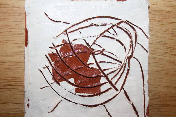 Ceramic Art - Growth - Tile by Gloria Ssali