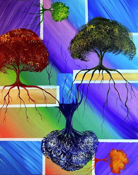 Wall Art - Painting - Growth From All Corners by Willy Proctor
