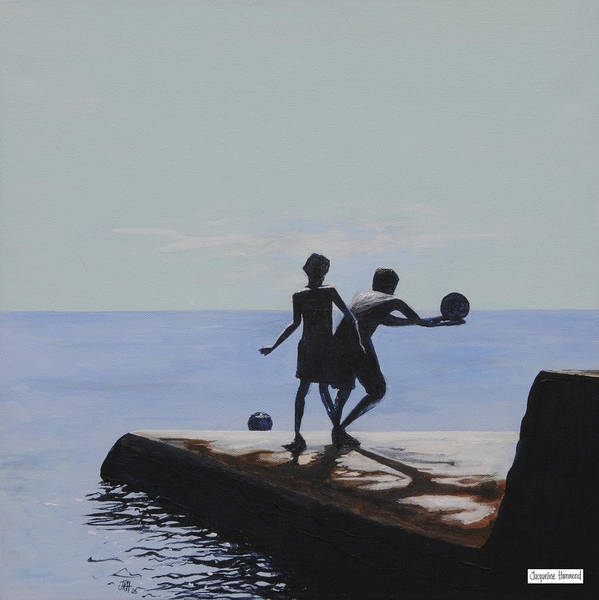 Painting - Groyne Series - What A Catch by Jacqueline Hammond