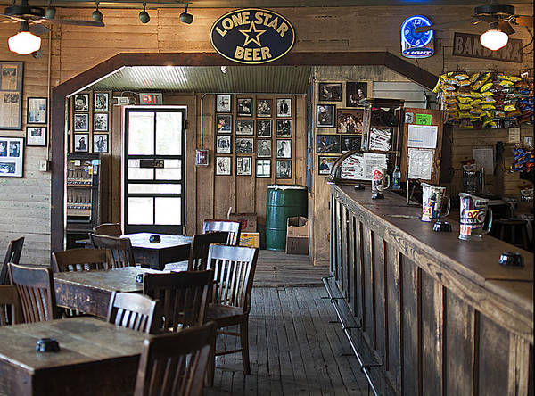 Photograph - Gruene Hall Bar by Brian Kinney