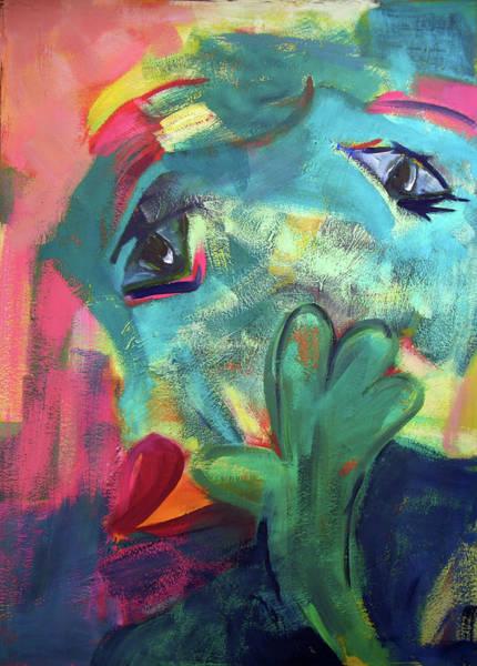 Painting - Gruener Kopf by Annette Kunow