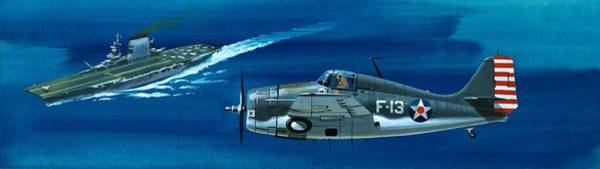 Corsair Painting - Grumman F4rf-3 Wildcat by Wilf Hardy