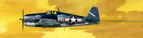 Corsair Painting - Grumman F6f-3 Hellcat by Wilf Hardy