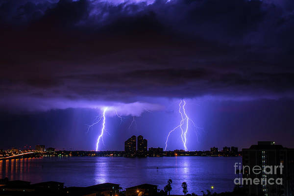 Electric Storm Photograph - Grumpy Skies by Quinn Sedam