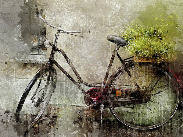 Wall Art - Digital Art - Grunge Bike by Yury Malkov