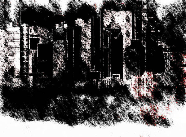Wall Art - Mixed Media - Grunge City  by Lisa Stanley
