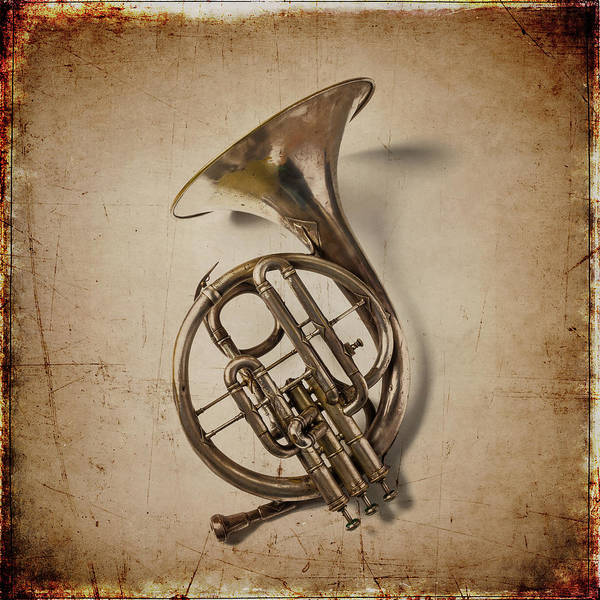 Wall Art - Photograph - Grunge French Horn by Garry Gay