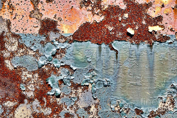 Peeling Paint Wall Art - Photograph - Grunge Industrial  by Olivier Le Queinec