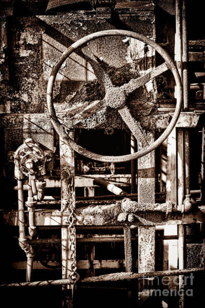 Wall Art - Photograph - Grunge Machinery by Olivier Le Queinec