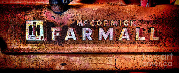 Manufacturers Photograph - Grunge Mccormick Farmall  by Olivier Le Queinec