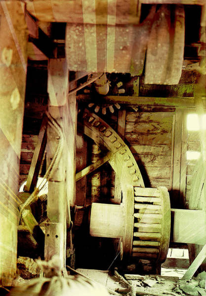Photograph - Grunge Mill Wheels by Robert G Kernodle