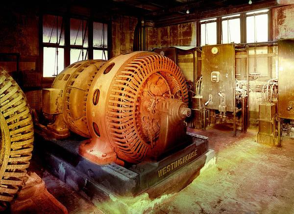 Photograph - Grunge Motor Generator by Robert G Kernodle