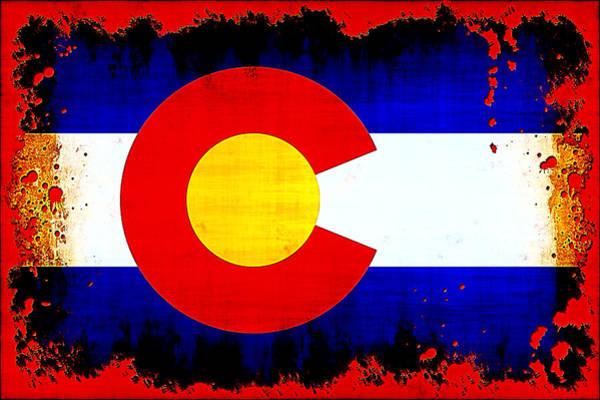 Wall Art - Photograph - Grunge Style Colorado Flag by David G Paul