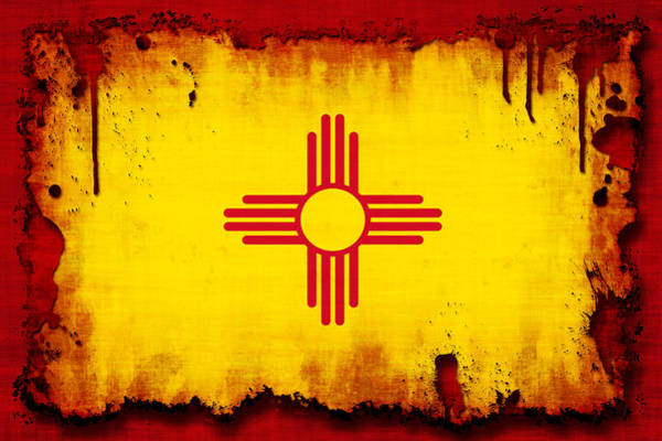 Wall Art - Photograph - Grunge Style New Mexico Flag by David G Paul