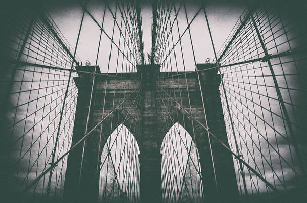 Lower Manhattan Photograph - Grungey Brooklyn Bridge by Martin Newman