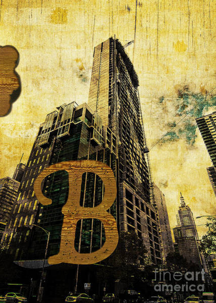 Photograph - Grungy Melbourne Australia Alphabet Series Letter B Central Busi by Beverly Claire Kaiya
