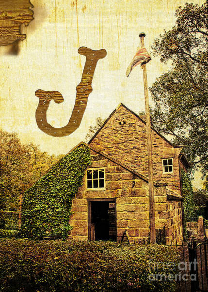 Photograph - Grungy Melbourne Australia Alphabet Series Letter J Captain Jame by Beverly Claire Kaiya