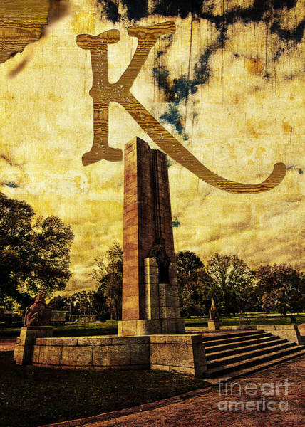 Photograph - Grungy Melbourne Australia Alphabet Series Letter K Kings Domain by Beverly Claire Kaiya