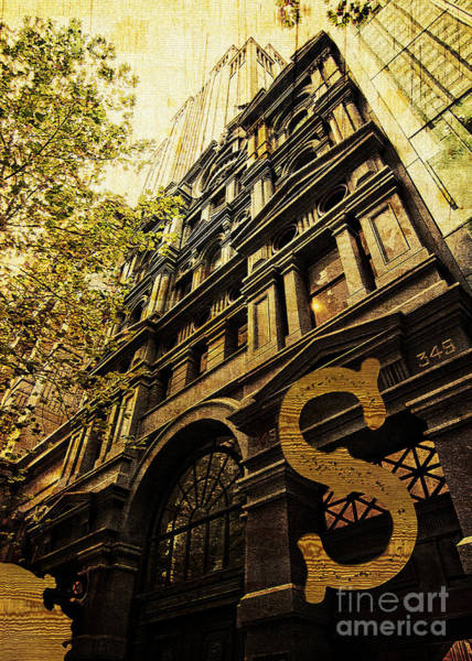 Photograph - Grungy Melbourne Australia Alphabet Series Letter S Collins Stre by Beverly Claire Kaiya