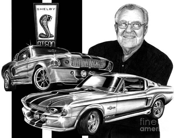 Carroll Shelby Wall Art - Drawing - Gt 500c by Peter Piatt