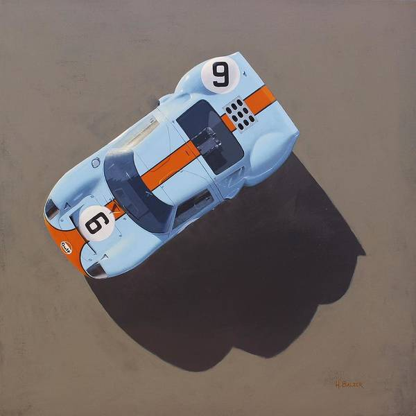 Lemans Wall Art - Painting - Gt40 by Henry Balzer