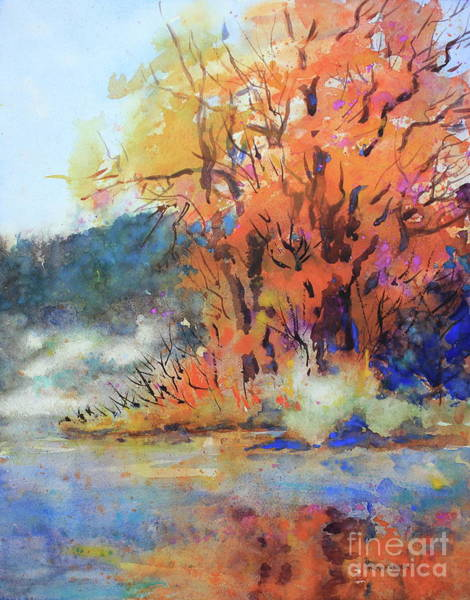 Central Texas Painting - Guadalupe Morning by Marsha Reeves