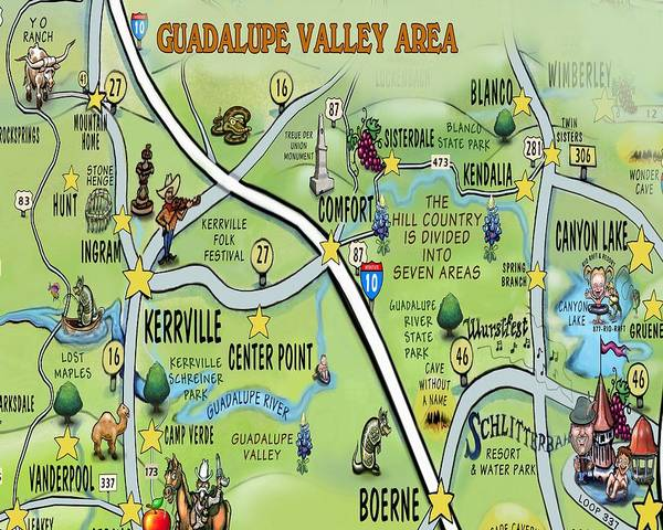 Digital Art - Guadalupe Valley Area by Kevin Middleton