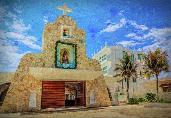 Isla Mujeres Photograph - Gualdalupe Church by John Hesley