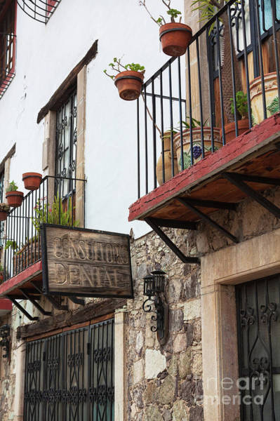 Photograph - Guanajuato Balconies And Sign by Tatiana Travelways