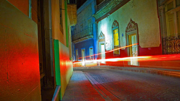 Art Print featuring the photograph Guanajuato Night by Skip Hunt