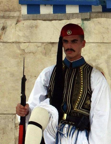 Photograph - Guard In Greece by Coleman Mattingly