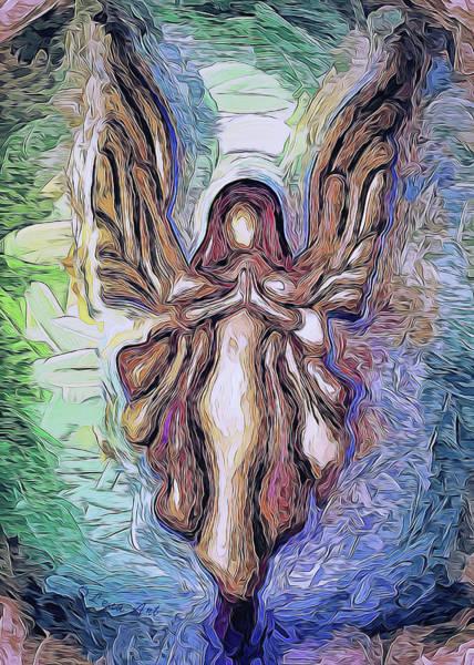 Painting - Guardian Angel - 2 by OLena Art - Lena Owens