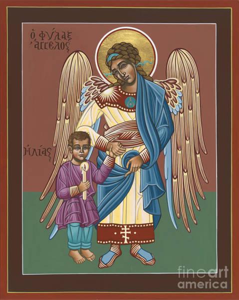 Painting - Guardian Angel Guarding Little Elijah Gemmell 191 by William Hart McNichols