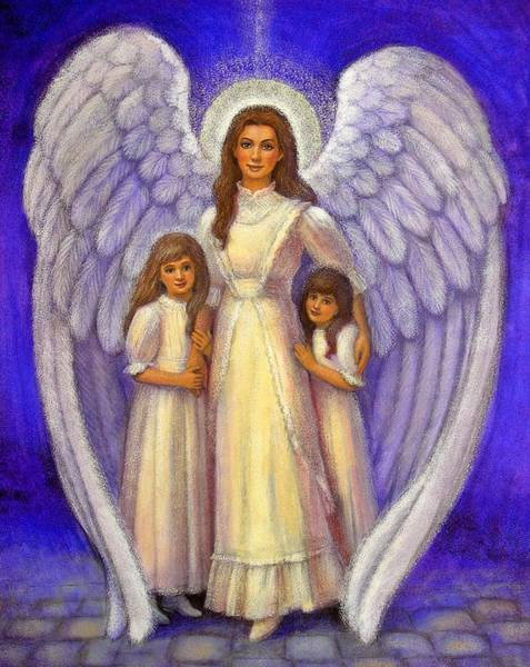 Wall Art - Painting - Guardian Angel by Sue Halstenberg