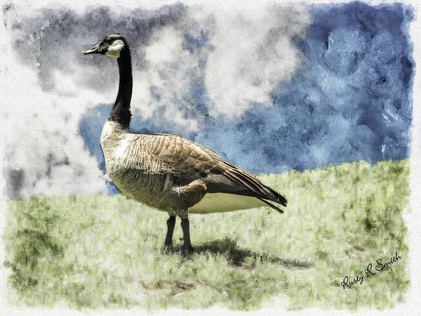 Digital Art -  Guardian Of His Gaggle. by Rusty R Smith
