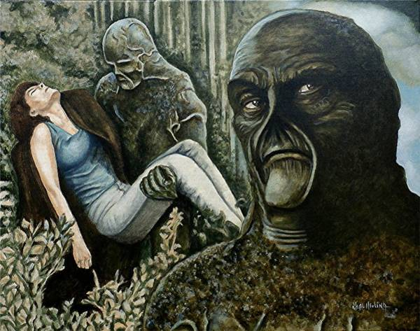 Wall Art - Painting - Guardian Of The Swamp by Al  Molina