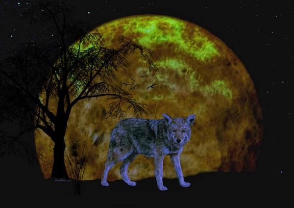 Digital Art - Guarding The Moon by Ericamaxine Price