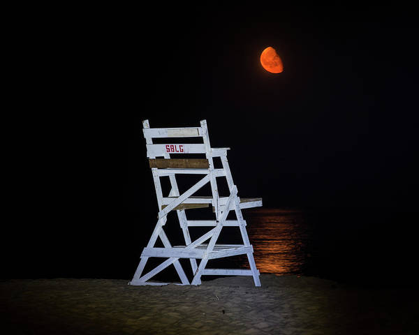 Photograph - Guarding The Moon On Singing Beach Manchester-by-the-sea Ma by Toby McGuire