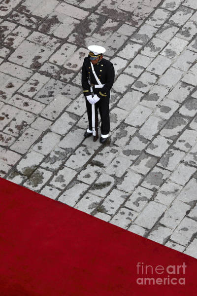 Photograph - Guarding The Red Carpet by James Brunker