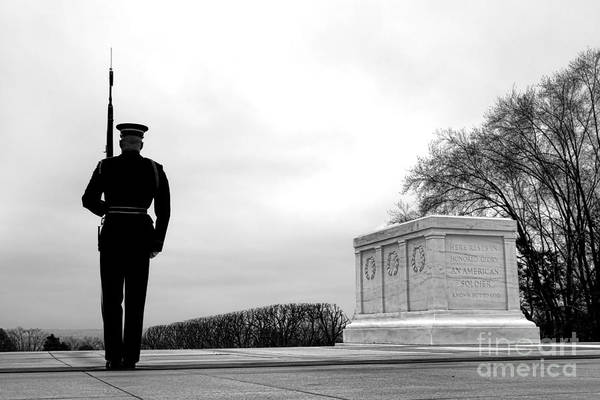 Honor Guard Photograph - Guarding The Unknown Soldier by Olivier Le Queinec