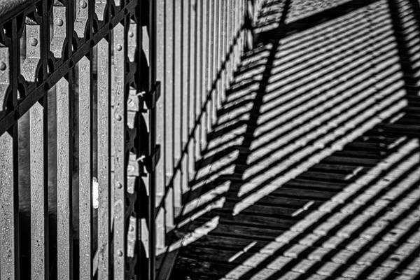 Photograph - Guardrail Shadows by Stuart Litoff
