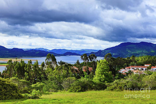 Guatavita Wall Art - Photograph - Guatavita On The Andes, Colombia - Looking Towards Embalse Del Tomine by Devasahayam Chandra Dhas